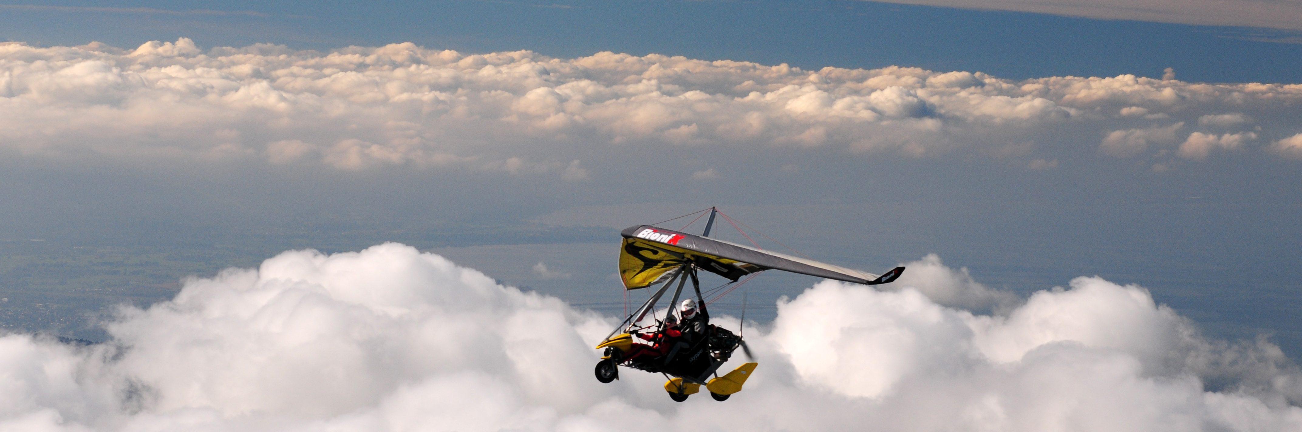 über den Wolken, ein Ultraleicht Trike