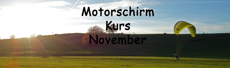 Motorschirmkurs November