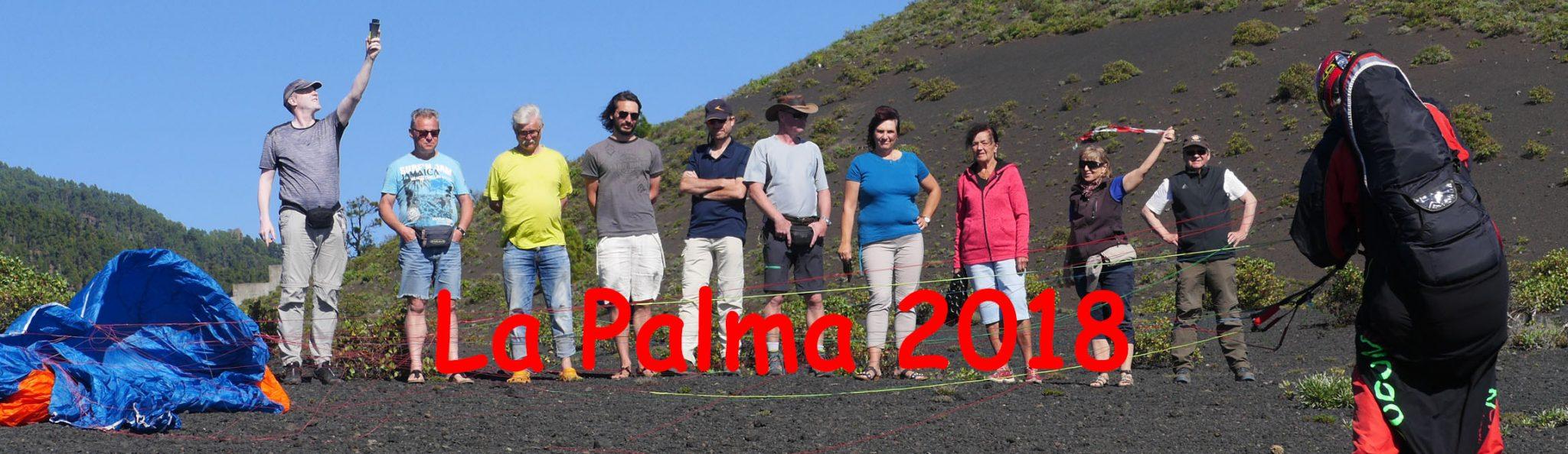 Gleitschirmfliegergruppe auf La Palma