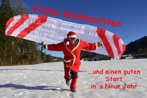 Nikolaus startet mit Gleitschirm