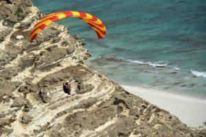 Gleitschirmfliegen im Oman
