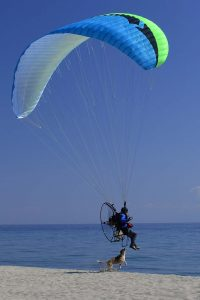 paramotor beach takeoff